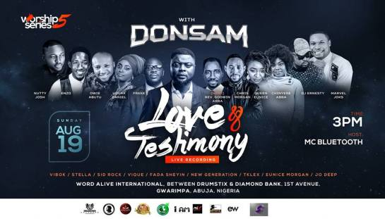 EVENT Worship Series 5 with Donsam Love and Testimony