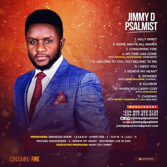 CONSUMING FIRE ALBUM BY JIMMY D PSALMIST